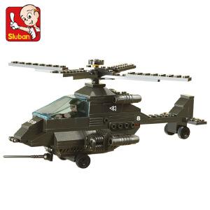 【当当自营】小鲁班陆军部队军事系列儿童益智拼装积木玩具 阿帕奇战斗机M38-B6200