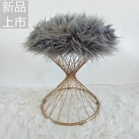 欧式椅子铁艺化妆凳梳妆凳卧室凳子梳妆台椅子梳妆台凳子现代简约定制