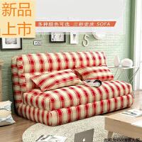 卧室舒服布艺沙发床沙发可折叠拆洗榻榻米单人双人沙发椅定制