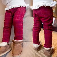 *儿童装女童加绒加厚棉裤子2018春冬装新款保暖休闲裤A062