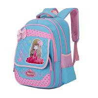 韩版女孩1-3-6年级中小学生时尚减负护脊双肩包 可爱公主儿童书包耐磨耐用开学书包