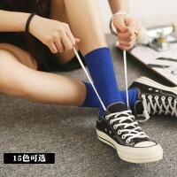 堆堆袜日系薄款女春秋百搭棉彩色袜子女中筒袜韩版学院风潮长袜子