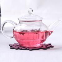 泡茶壶 透明过滤加热高硼硅耐热玻璃六人壶250ml 花茶壶 茶具