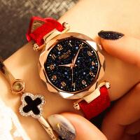 女士手表防水时尚网红抖音星空潮流韩版简约休闲大气手表