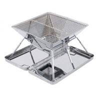 户外烧烤炉不锈钢烤炉家用木炭烧烤箱大号不锈钢便携烧烤架野餐新品