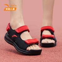 安踏童鞋夏季新款男童拖鞋透�饽��g�N�和�沙�┬��鲂� A31726980