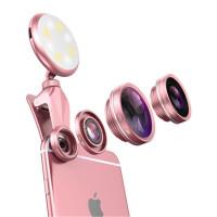手机镜头补光灯直播自拍广角手机镜头 广角/鱼眼/微距 摄像头外置高清抖音自拍拍照美颜补光灯