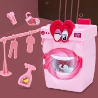 儿童迷你洗衣机小型玩具手动滚轮套装电器女孩过家家