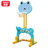 家用室内小男孩玩具儿童篮球架子宝宝可升降投篮筐框足球门二合一