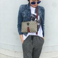 女包手拿包2018新款韩版信封包单肩包潮时尚百搭老花斜挎包小包包 灰色