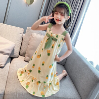 女童睡裙吊带裙夏季儿童睡衣女孩公主亲子夏天薄款家居服