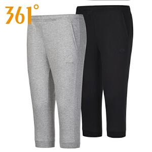 【折上1件6折 2件5折】361度女装秋季新款运动针织七分裤透气女子短裤