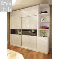 板式衣柜 现代木质推拉门移门大衣橱整体衣柜卧室简易组合2门衣柜定制 2门