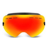 户外专业成人滑雪镜 双层防雾 男女款大球面 可卡近视眼镜