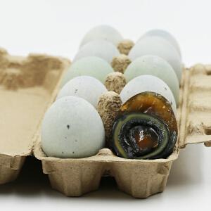 【宜昌农特产馆】宜昌特产 蛋之语无铅溏心松花皮蛋20枚装 净重1300克 变蛋传统工艺制作