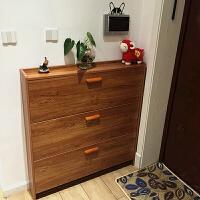 翻斗鞋柜简约现代门厅柜简易经济型实木色门口省空间家用鞋架 组装