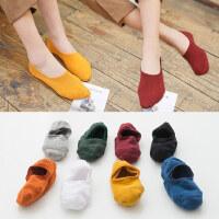 船袜女士纯棉隐形袜子女秋冬款硅胶防滑短袜浅口可爱袜套