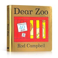 全店满300减100】进口英文原版Dear Zoo亲爱的动物园立体翻翻纸板书Rod Campbell英语启蒙绘本0-2-