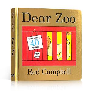 全店满300减100】进口英文原版Dear Zoo亲爱的动物园立体翻翻纸板书Rod Campbell英语启蒙绘本0-2-3-6岁A Lift-the-Flap Book吴敏兰推荐书单亲子游戏儿童读物