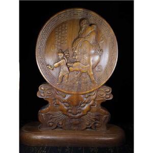 花梨木人物雕刻摆件