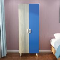 衣柜卧室简约现代经济型组装小型租房板式衣橱简易收纳抽屉木柜子 2门 组装