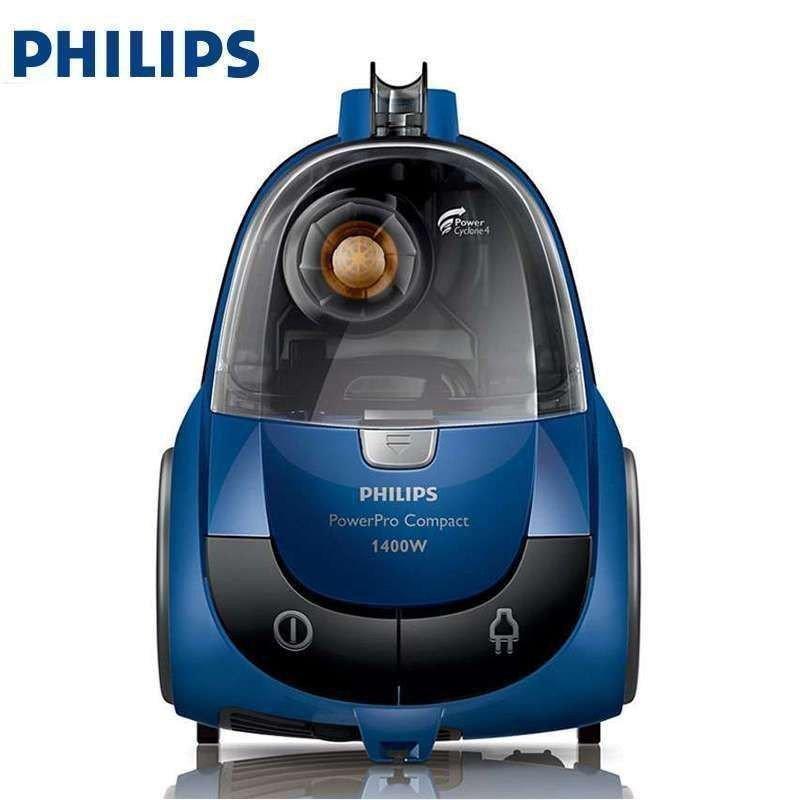 飞利浦 (PHILIPS) 卧式吸尘器 家用大功率 大吸力 多种吸嘴无尘袋 FC8471/81 1400W大功率,吸力可调节,收线按钮