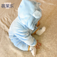 蓓莱乐春秋装新生儿婴儿衣服0岁6月宝宝哈衣爬服秋冬季连体衣新年