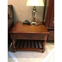 美式边几角几实木沙发边桌欧式客厅边柜简约电话桌咖啡桌小茶几