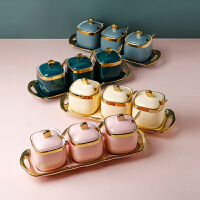 厨房用品家用大全陶瓷调味罐北欧调料罐组合套装盐味精调料盒轻奢