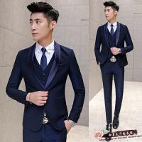 春季新款男士结婚礼服新郎商务男式西装修身韩版休闲韩版西装 潮