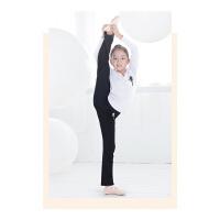 儿童舞蹈服分体套装 女孩形体练功服男白色长袖萝卜裤运动服