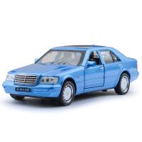 建元奔驰经典款虎头奔1993 SW140合金汽车模型带声光回力玩具