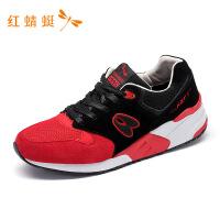 红蜻蜓男鞋休闲鞋春秋革面时尚经典复古低帮运动鞋子男-