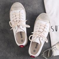 新百伦支撑2018新款韩版夏季女帆布鞋防滑时尚帖学生小白鞋网红鞋