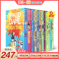 �M口英文原版小�f�_��德�_��全集 Roald Dahl 16本盒�b 青少年�n外��x章��� 女巫好心眼��A�艟奕肆瞬黄鸷��爸