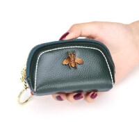 真皮拉链小钱包迷你可爱硬币包卡包钥匙包多功能牛皮零钱包女短款