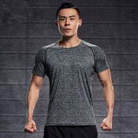 运动上衣男士短袖跑步宽松速干衣吸汗透气薄款户外晨跑t恤衫