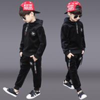 儿童男孩运动帅气衣服洋气两件套潮童装男童冬装套装