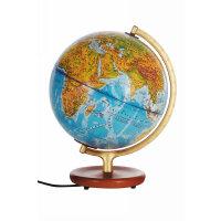 政区中、英文灯光地球仪・木座合金架・博目地球仪:25厘米地形
