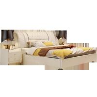 小户型1.8米软床头双人床现代简约主卧榻榻米床家具 +9分区乳胶加棉薰衣草三防床垫+2柜 1800mm*2000mm 气