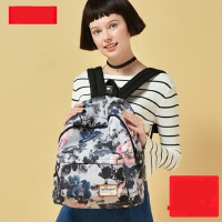 新款小清新书包迷你双肩包女 潮校园印花帆布背包包旅行包 简约休闲小背包
