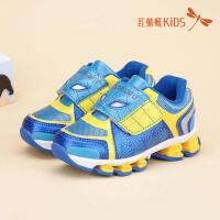 红蜻蜓童鞋网皮拼接面卡通魔术贴经典百搭舒适儿童休闲鞋