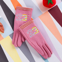 韩版保暖 可爱秋冬季加绒儿童手套女款加厚6-8岁小孩手套
