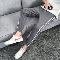裤子男春季新款韩版潮流休闲哈伦裤青少年百搭学生宽松运动九分裤