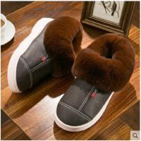 男士高帮棉拖鞋男冬季毛绒新款包跟厚底室内防滑冬天棉鞋外穿开车