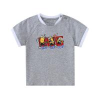 【2件3折到手价:49】小猪班纳童装男童圆领短袖衫2020春夏新款中小童T恤纯棉针织衫