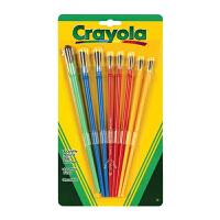 保税区发货 Crayola绘儿乐 颜料画刷 儿童绘画涂鸦笔刷套装(8支装)3岁以上 海外购