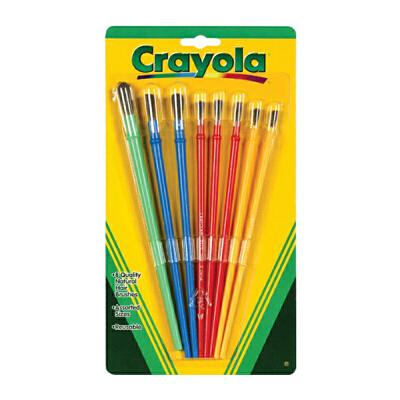 保税区发货 Crayola绘儿乐 颜料画刷 儿童绘画涂鸦笔刷套装(8支装)3岁以上 海外购 儿童绘画涂鸦笔刷套装