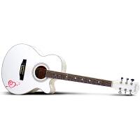 Saysn思雅晨40寸民谣吉他新手初学入门练习木吉它jita乐器女生白色恋心套装