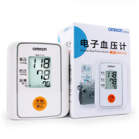 欧姆龙电子血压计HEM-7112 上臂式血压计家用血压计 配4节7号电池